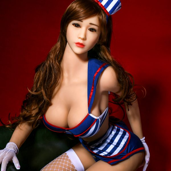 YB-00002 158cm Blonde Skin Brown Hair Sexy Big Breast Sex Doll