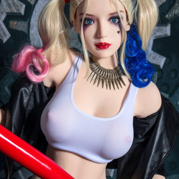 YB-00076 165cm White Skin White Hair Harley Quinn Sex Doll