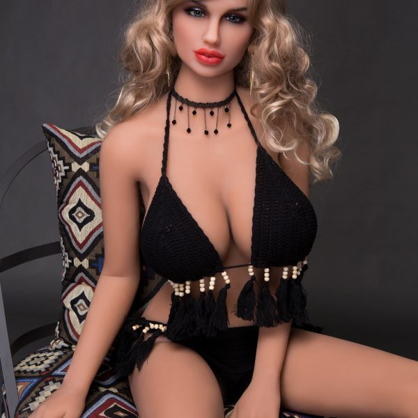 YB-00072 158cm Blonde Hair Blonde Skin Big Breast Sex Doll