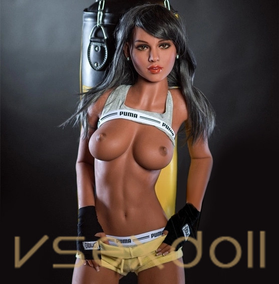 166cm Fitness Sexy Charming Black Hair Small Breasts Black Sex Doll