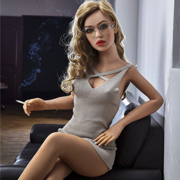 155cm Blonde Hair Glasses Mature Small Tits Blonde Sex Doll