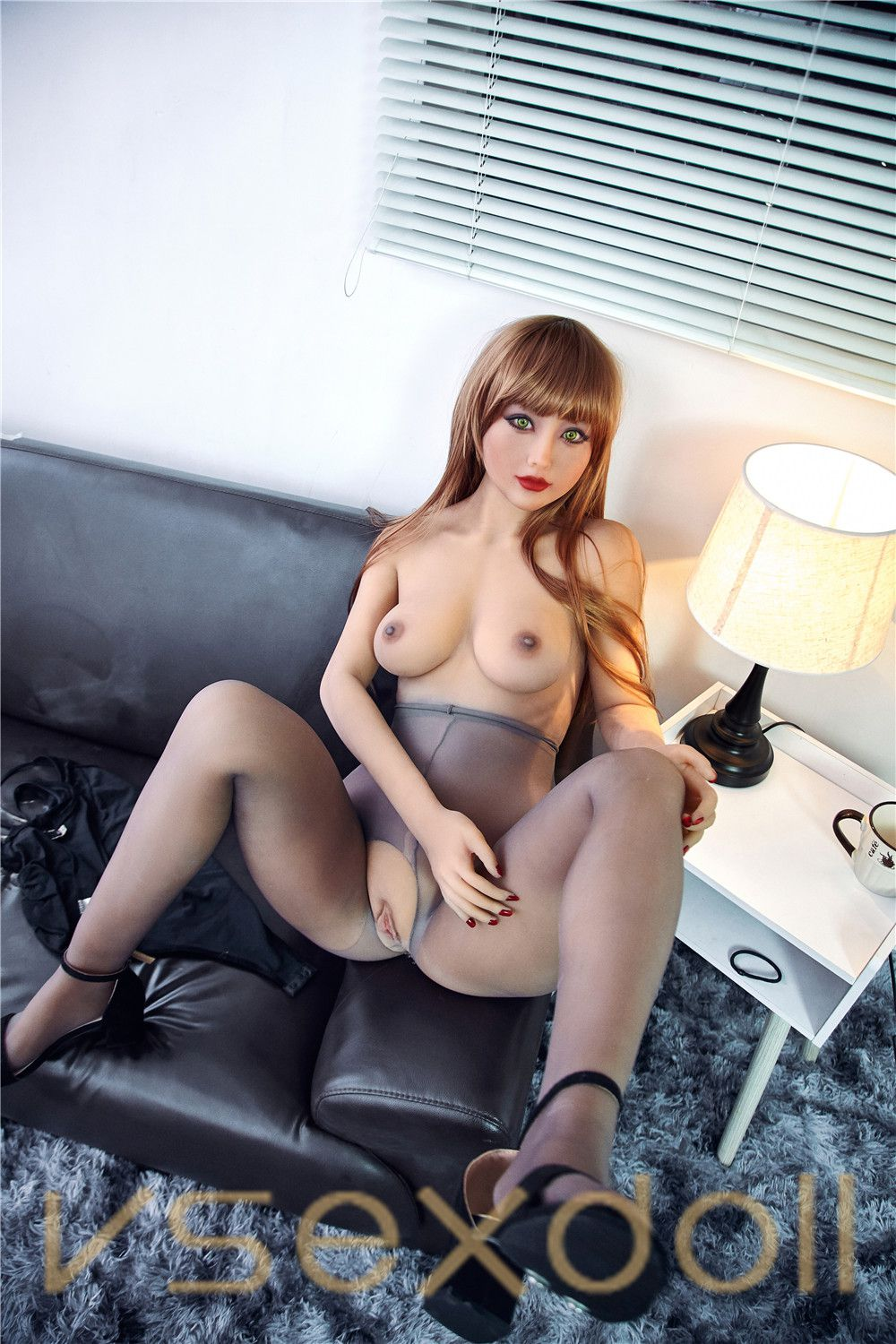 163cm Blonde Long Hair Big Butt Sexy Lace Blonde Sex Doll
