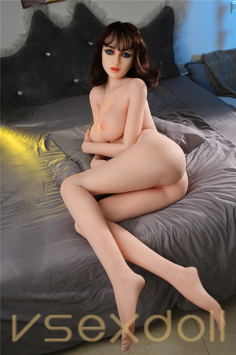 165cm Plus Victoria Brown Curly Hair Big Tits Sexy Blonde Sex Doll