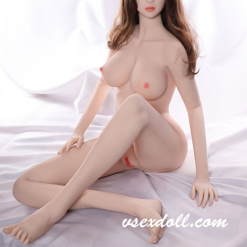 Billiards Beauty With Long Brown Curly Hair And Beautiful Blond Sex Doll