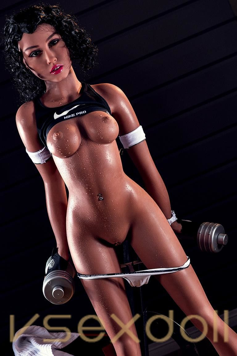Fitness Girl With Black Hair And Petite Breasts Black Sex Doll