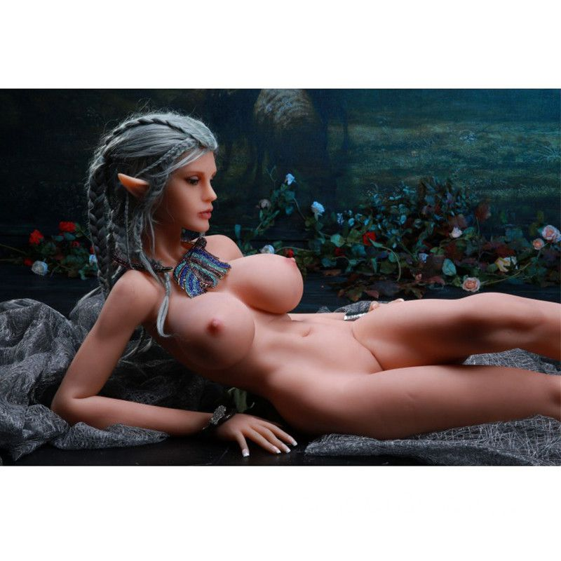 165cm Sexy Gray Long Hair Big Breasts Elf Sex Doll