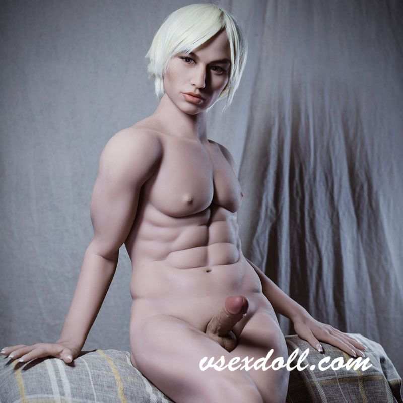 170cm White-Haired Handsome And Strong Cock Male Sex Doll