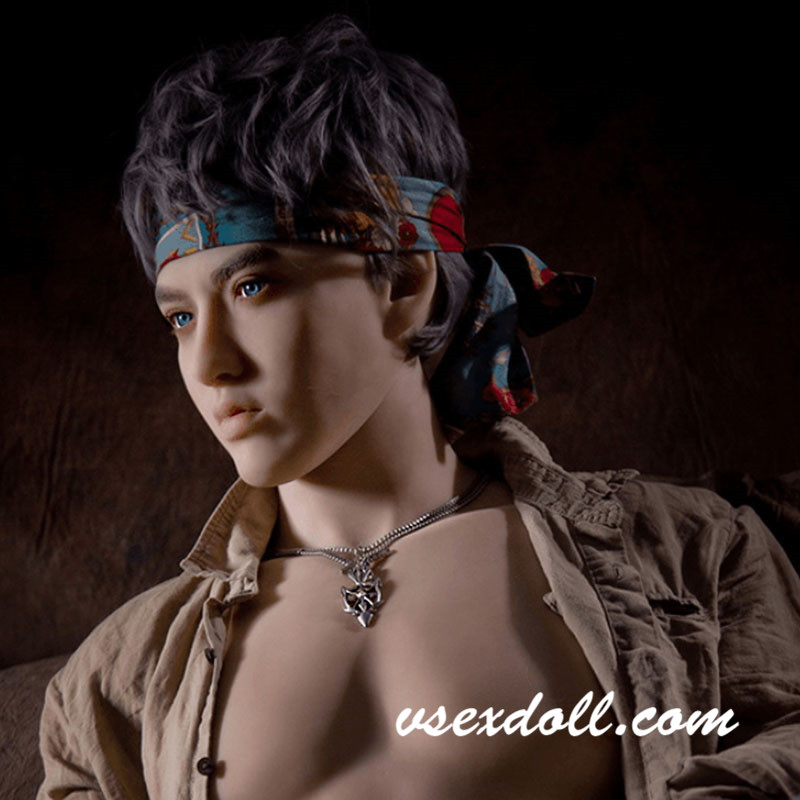 170cm Hairband Boy Strong Muscle Handsome Male Sex Doll
