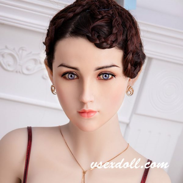 Mature Short-Haired Beauty Sex Doll Head