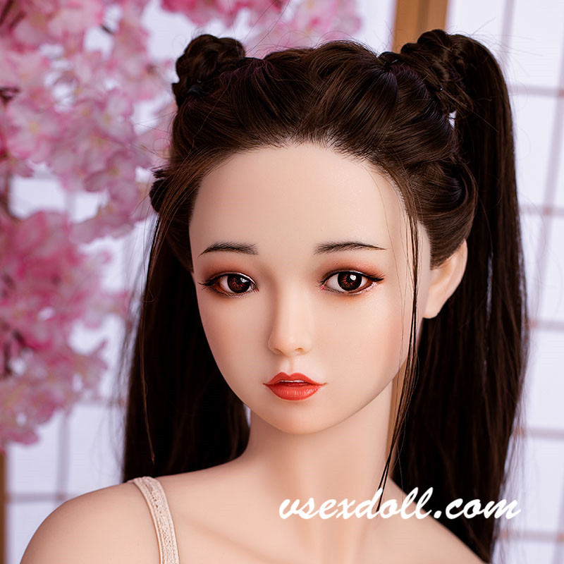 Exquisite Antique Beauty With Long Brown Hair Sex Doll Head