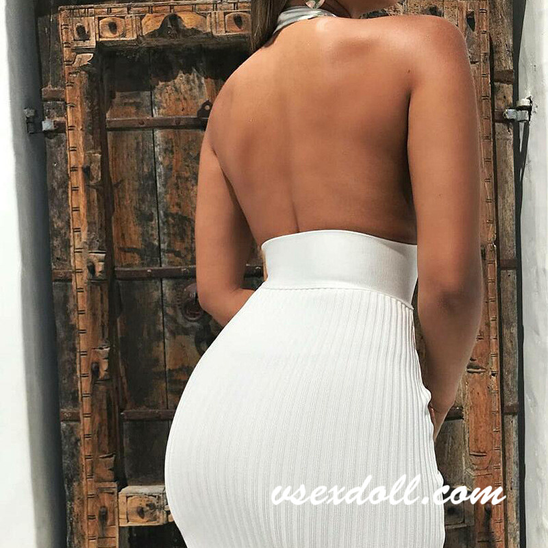Sexy White Skirt Evening Dress Sex Doll Clothes